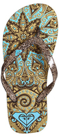Женские вьетнамки Roxy -60% Tangier gold