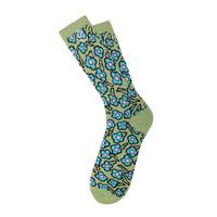 Носки HUF X Krooked Flowers Socks seafoam