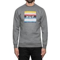 Реглан HUF Serape box logo crewneck grey heather -30%