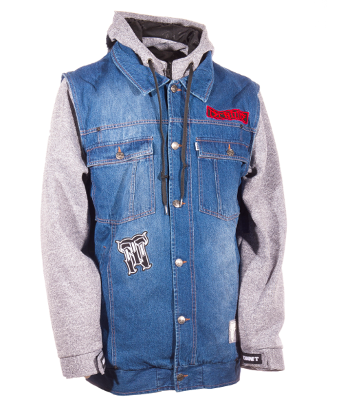 Сноубордическая куртка Technine Denim Vest indigo fade/heather grey -50% by agency iworldestate.com