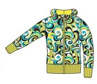 Зип Dakine Print hoodie yellow