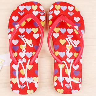 Женские вьетнамки Roxy red hearts -60% by agency iworldestate.com