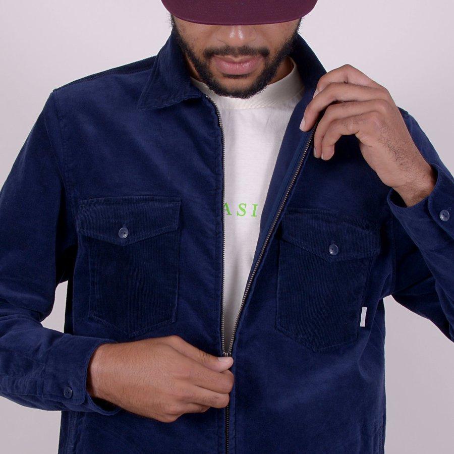 Вельветовая куртка Quasi Corduroy shirt jacket navy by agency iworldestate.com