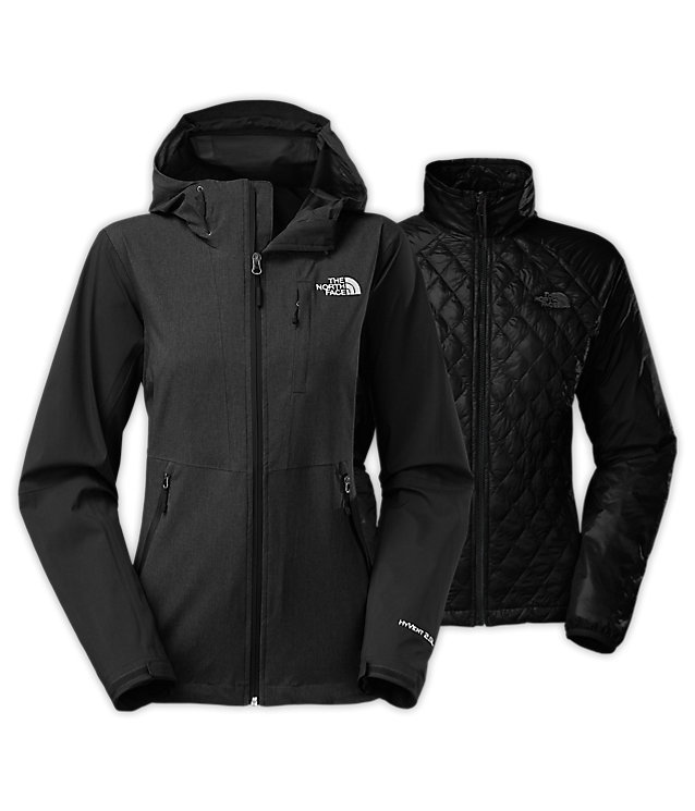 Женская куртка The North Face thermoball triclimate jacket black grey by agency iworldestate.com