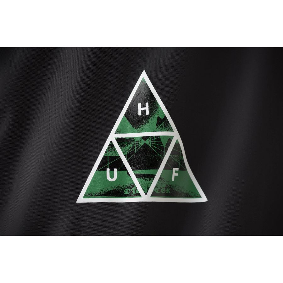 Куртка HUF Dimensions coaches jacket black by agency iworldestate.com