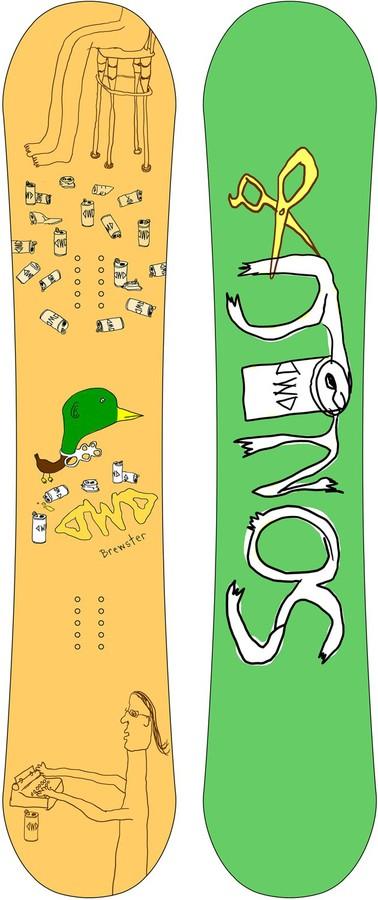 Сноуборд Dinosaurs will die Brewster 152, 155см by agency iworldestate.com
