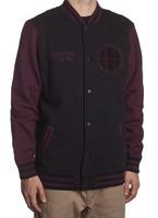 Куртка HUF SF Circle H Varsity jacket black/wine
