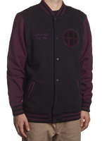 Куртка HUF SF Circle H Varsity jacket black/wine -50%