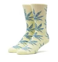 Носки HUF Melange plantlife sock yellow teal