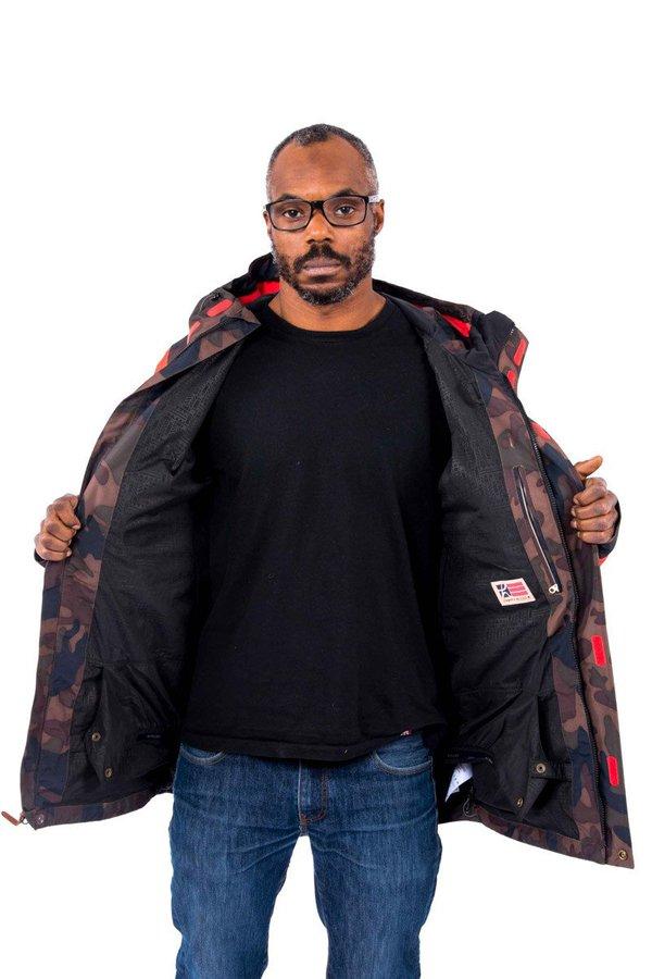 Сноубордическая куртка Holden M's Highland jacket camo poppy