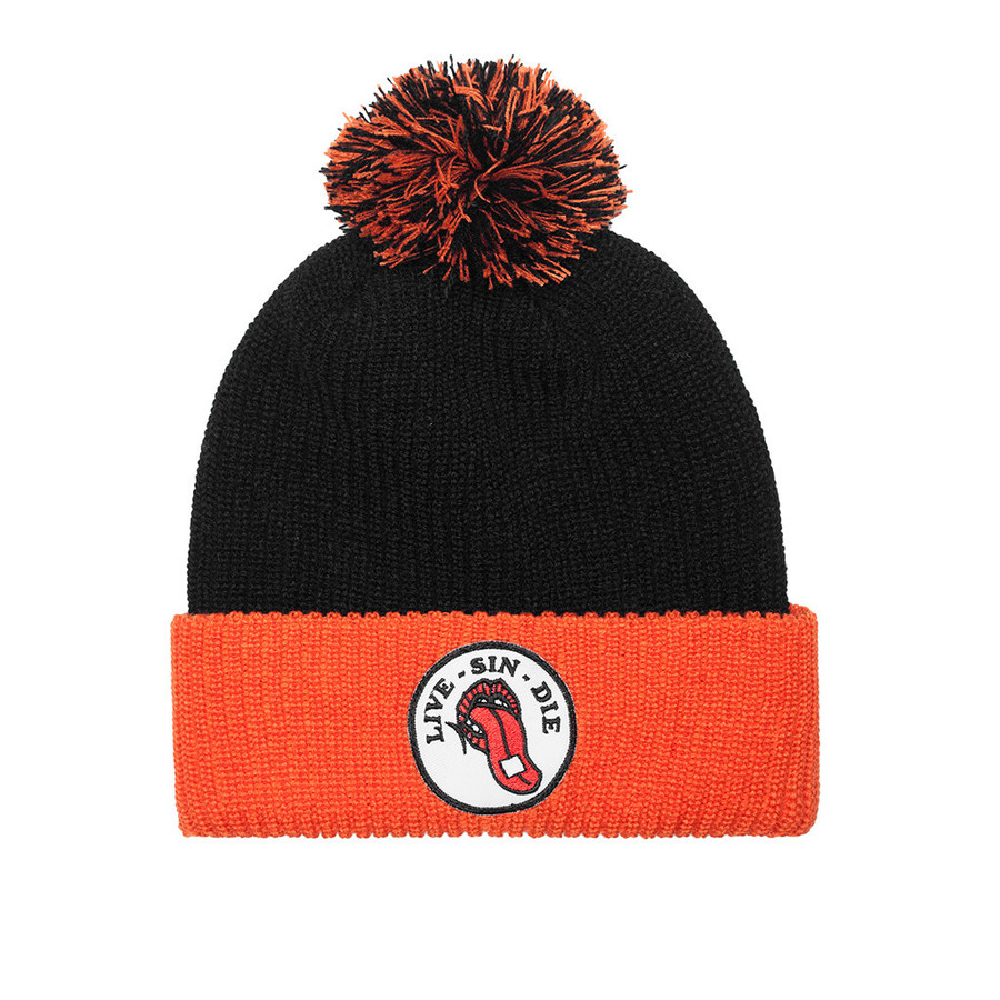 Шапка Huf SF Live sin die beanie black orange by agency iworldestate.com