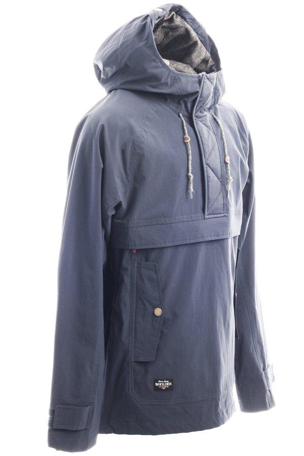 Сноубордическая куртка-анорак Holden M's Scout side zip jacket navy by agency iworldestate.com