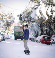 Замшевые сноубордические варежки Howl Highland Mitt gold