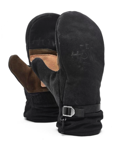 Замшевые варежки Howl Highland Mitt black by agency iworldestate.com