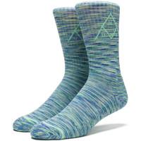Носки HUF Triple Triangle Melange crew sock blue
