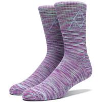Носки HUF Triple Triangle Melange crew sock pink