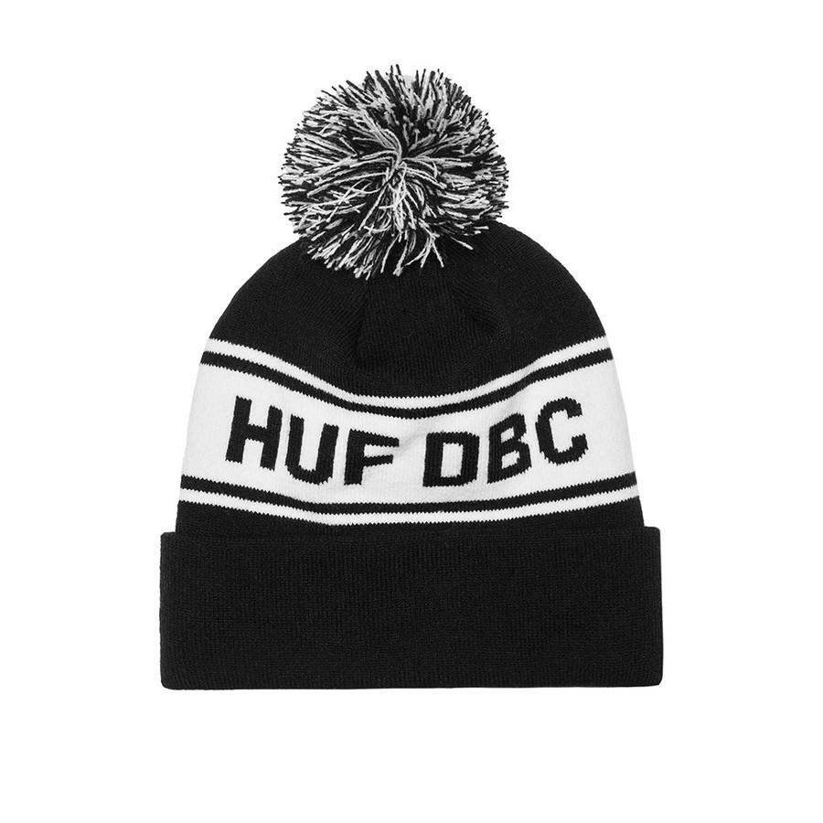 Шапка Huf SF DBC Pom beanie black by agency iworldestate.com