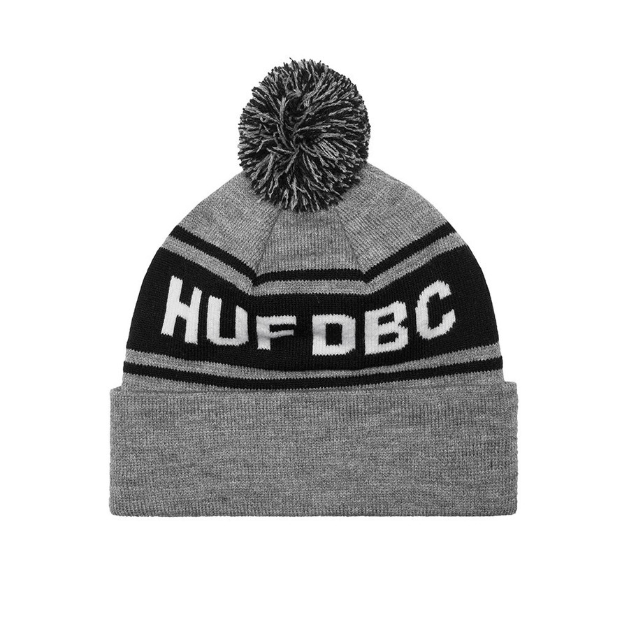 Шапка Huf SF DBC Pom beanie grey heather by agency iworldestate.com