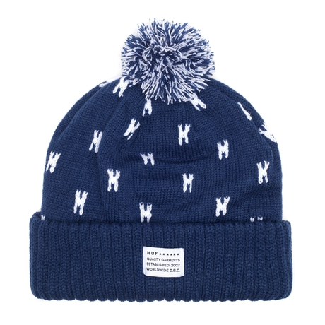 Шапка Huf SF Monogram beanie navy by agency iworldestate.com