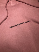 Реглан WeSC Fall18 Mike small chest logo hooded sweatshirt burnt rose