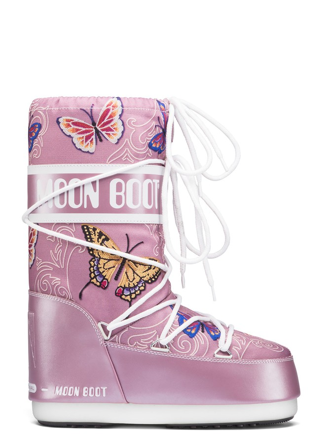 Зимние сапоги, детские мунбуты Tecnica Moon Boot JR Butterfly liliac junior by agency iworldestate.com