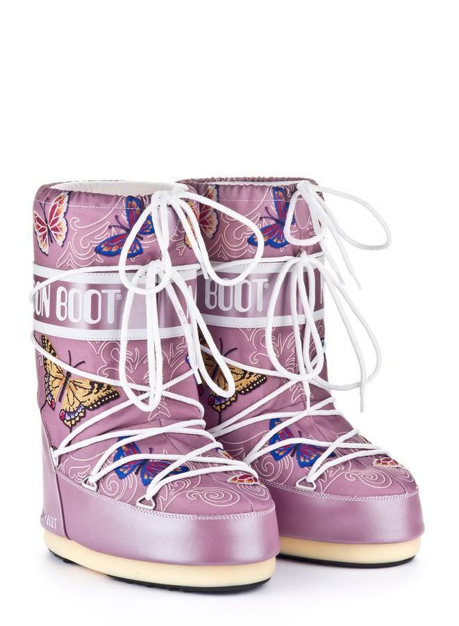 Зимние сапоги, детские мунбуты Tecnica Moon Boot JR Butterfly liliac junior