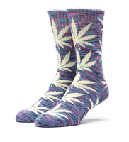 Носки HUF Melange plantlife crew sock blue yellow