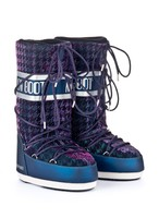 Зимние сапоги, мунбуты Tecnica Moon Boot Glam blue silver