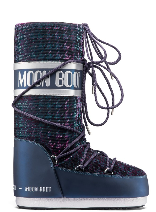 Зимние сапоги, мунбуты Tecnica Moon Boot Glam blue silver by agency iworldestate.com