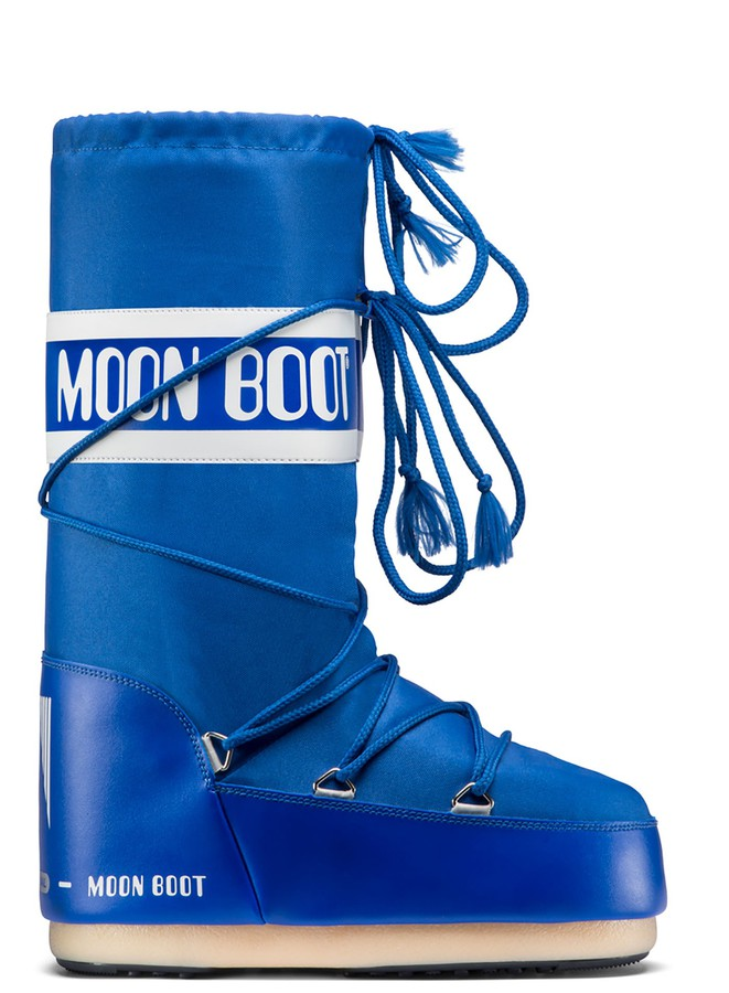 Зимние сапоги, мунбуты Tecnica Moon Boot Nylon electric blue by agency iworldestate.com