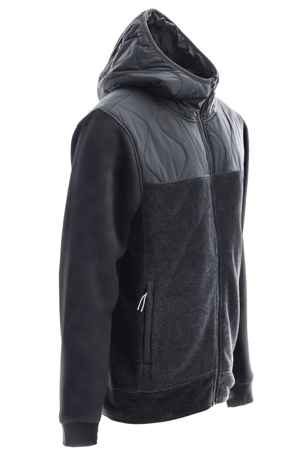 Флисовая кофта Holden Men's Sherpa Hybrid Zip Up black by agency iworldestate.com