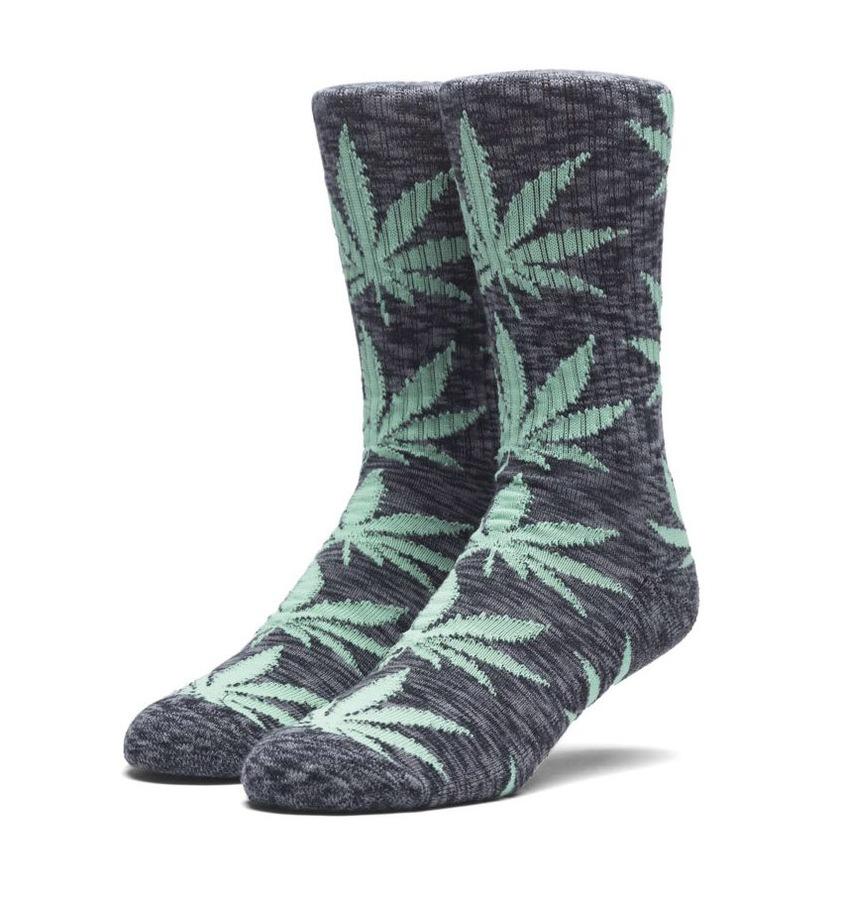 Носки HUF SP18 Plantlife melange sock black by agency iworldestate.com