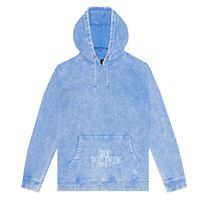Реглан HUF HO18 Serif Stack frost wash pullover hoodie forever blue