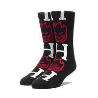 Носки HUF Spitfire bighead H socks black