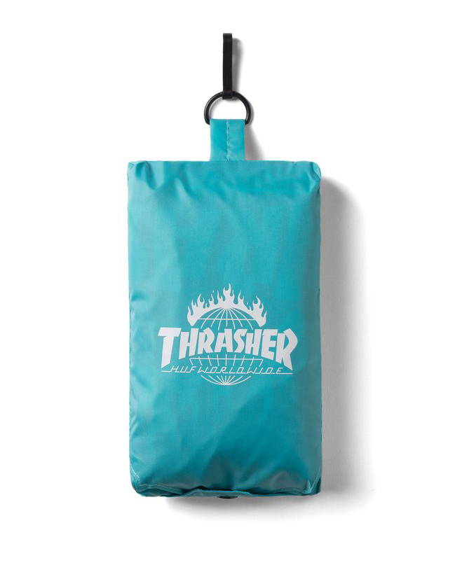 Пончо HUF Thrasher TDS packable poncho mint by agency iworldestate.com