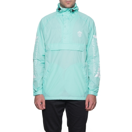 Анорак HUF Thrasher TDS packable anorak mint by agency iworldestate.com
