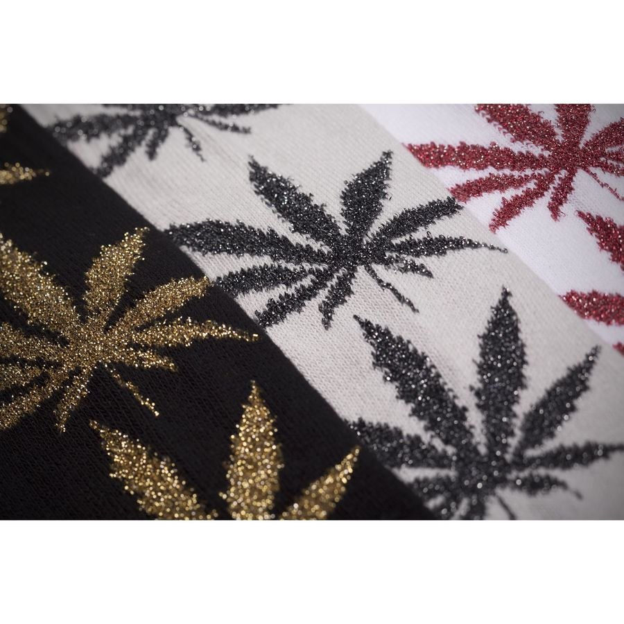 Носки HUF Tinsel plantlife sock black gold by agency iworldestate.com