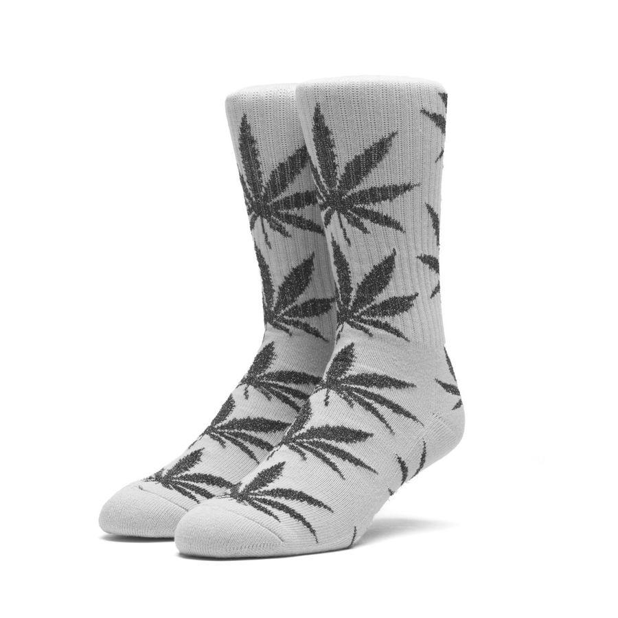 Носки HUF Tinsel plantlife sock grey black by agency iworldestate.com