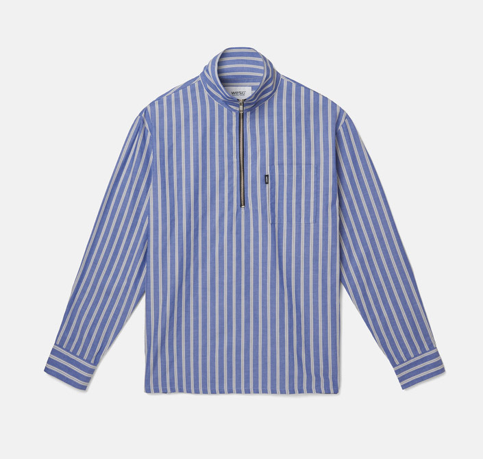 Рубашка WeSC Fall18 Banks ls shirt relaxed fit marine blue by agency iworldestate.com