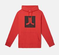 Реглан WeSC Fall18 Box Icon hooded sweatshirt flame scarlet