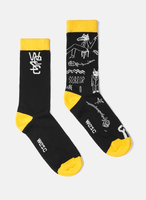 Носки 2 пары WeSC Fall18 Fashion sock the bar 2 pack ultra yellow