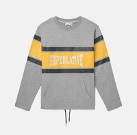 Свитшот WeSC Fall18 Madison Superlative sweatshirt grey melange