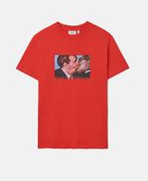 Футболка WeSC Fall18 Max Kiss t-shirt flame scarlet