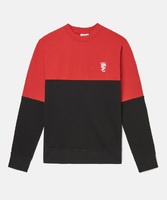 Свитшот WeSC Fall18 Overlay block sweatshirt flame scarlet