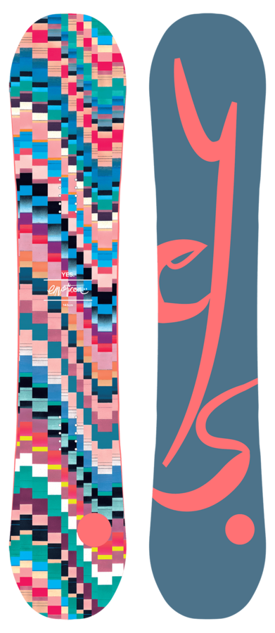Женский сноуборд YES Emoticon 143