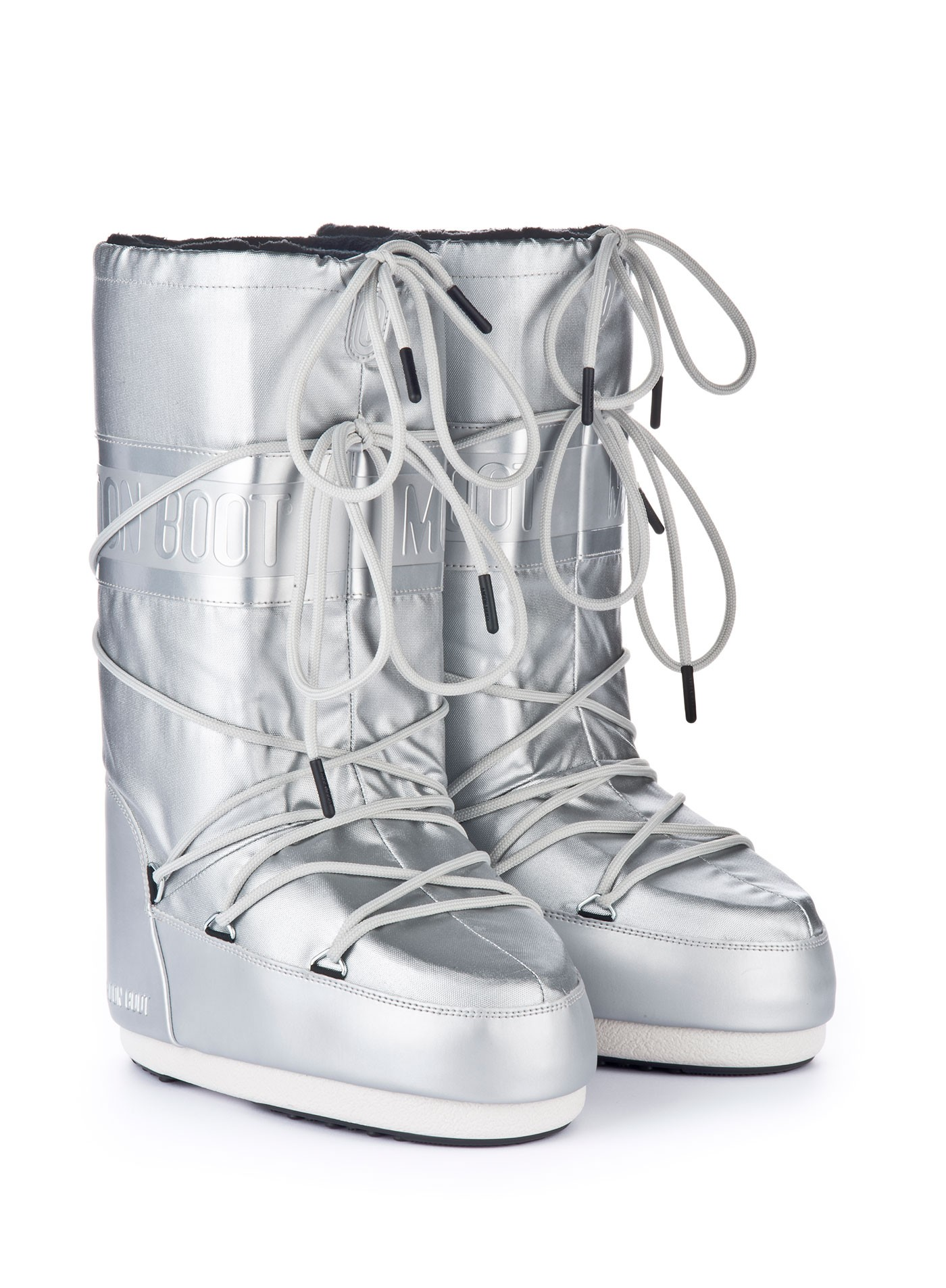 Мунбуты Moon boot Classic plus met silver