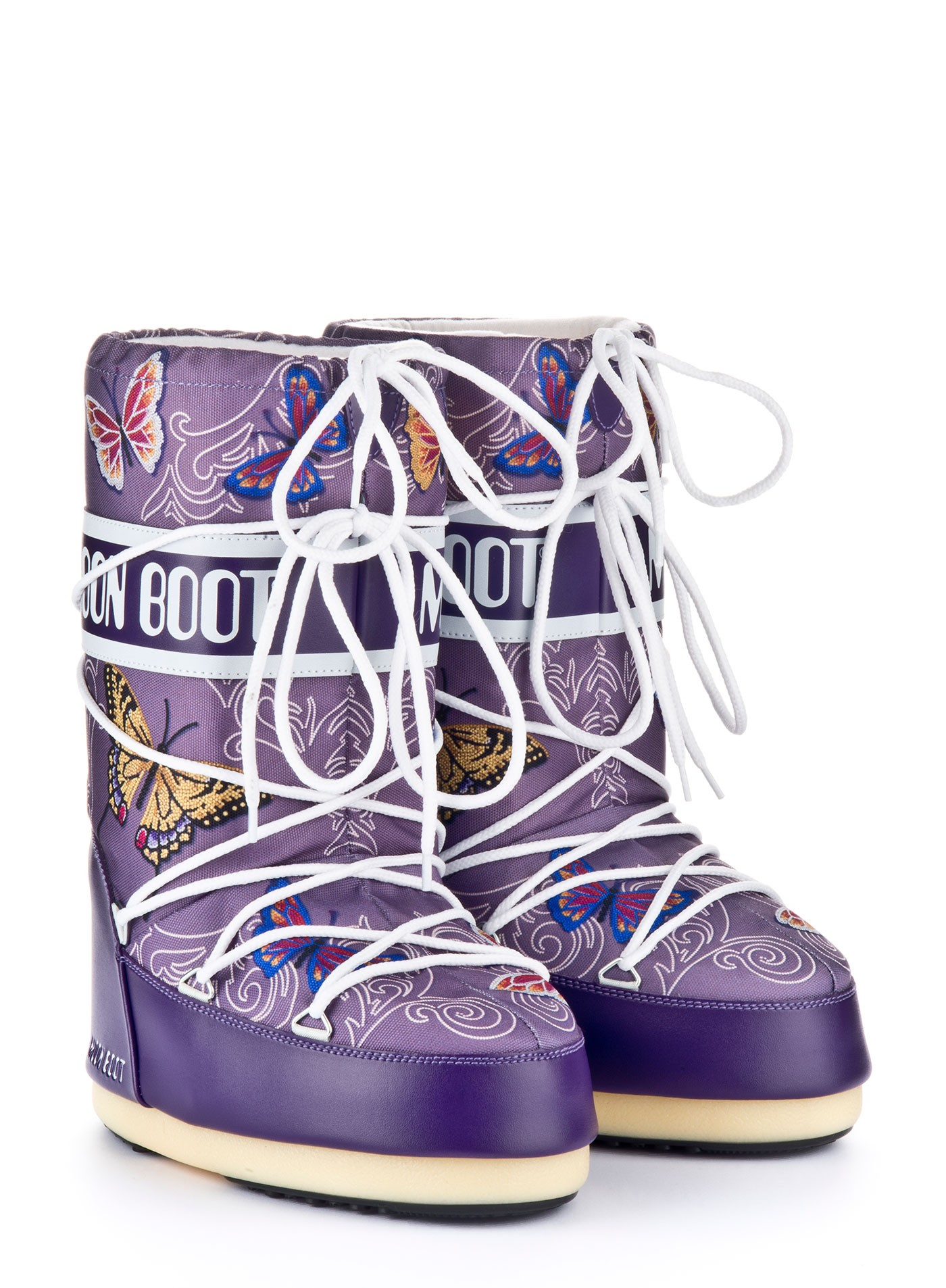 Мунбуты Moon boot Butterfly jr violet