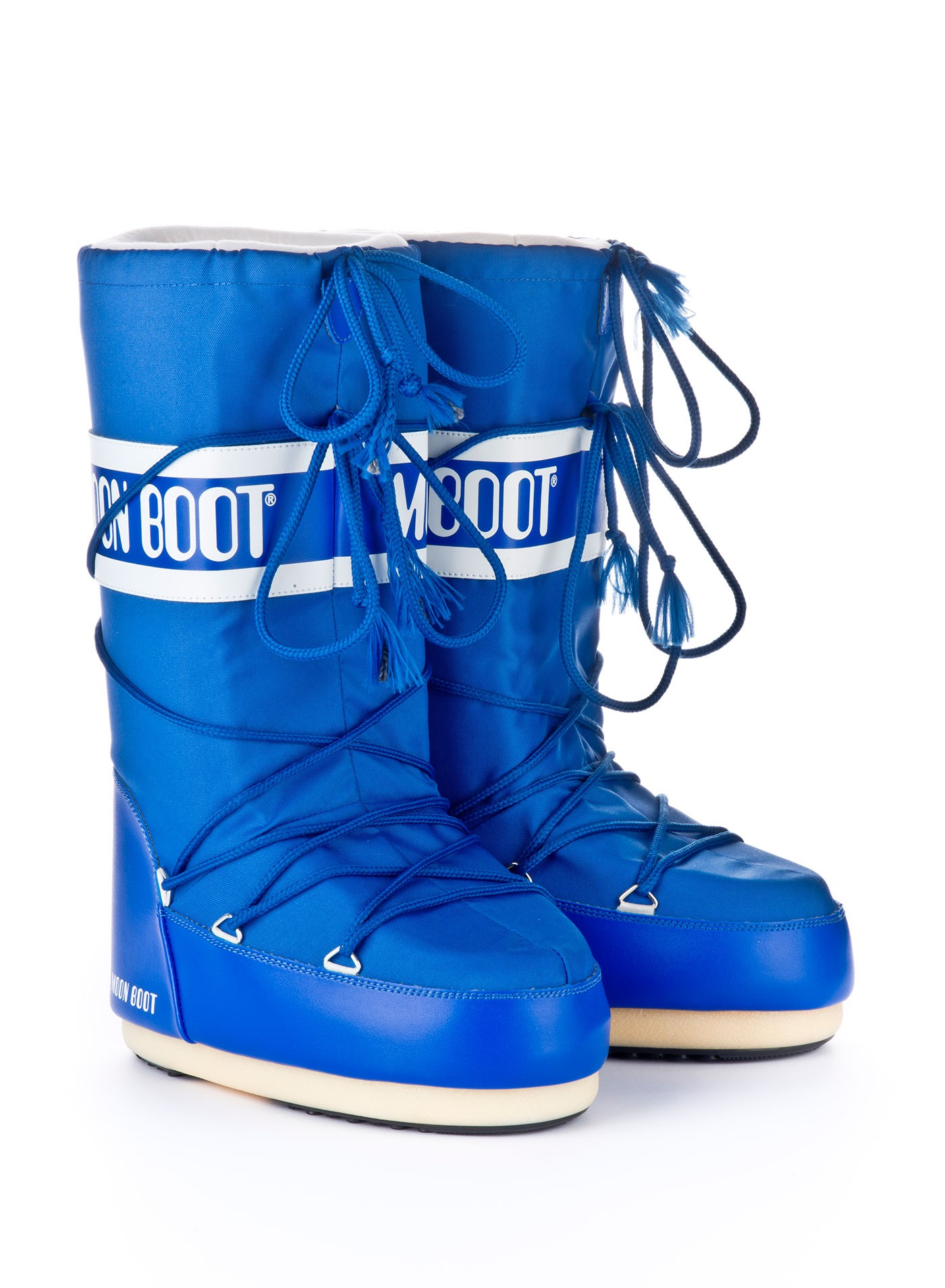 Мунбуты Moon boot Nylon electric blue