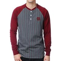 Хэнли LRG Hard henley in maroon -50%
