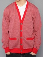 Кардиган LRG The Core Collection Striped Cardigan in Red -50%